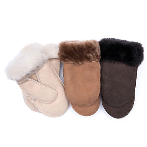 Luxurious Childrens Sheepskin Mittens