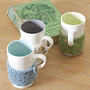 Cosy mug green cream turq