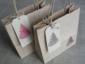Christmas Tree Gift Bag And Tag - gift boxes