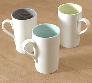 Tactile Porcelain Mug - mugs