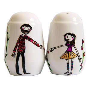 Personalised Heart Vine Salt And Pepper Pots