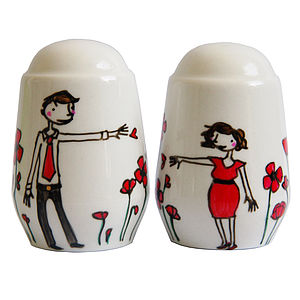 Personalised Poppy Salt And Pepper Pots