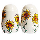 Personalised Sunflower Salt And Pepper Pots