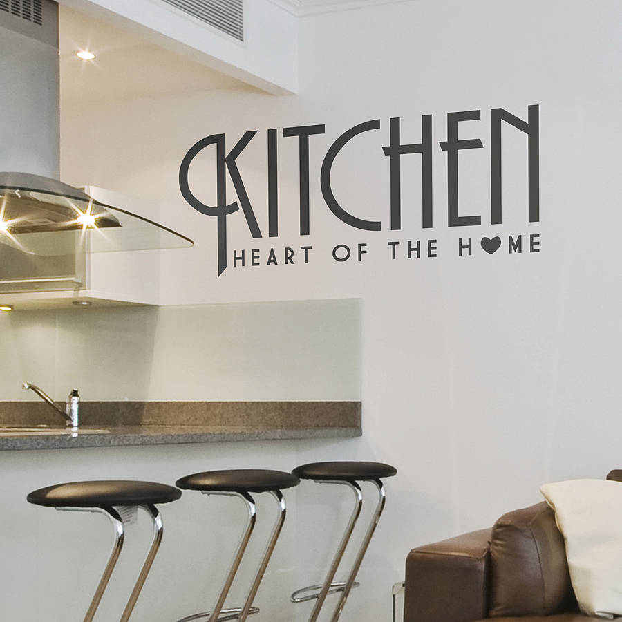 kitchen wall sticker of the home by oakdene