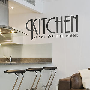 Kitchen 'Heart Of The Home' Wall Sticker - painting & decorating