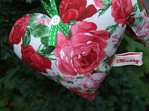 Christmas Fabric Hearts