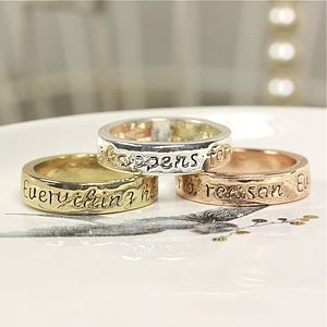 'Everything Happens For A Reason' Ring - women's jewellery