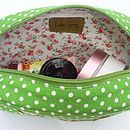 Inside cosmetic bags