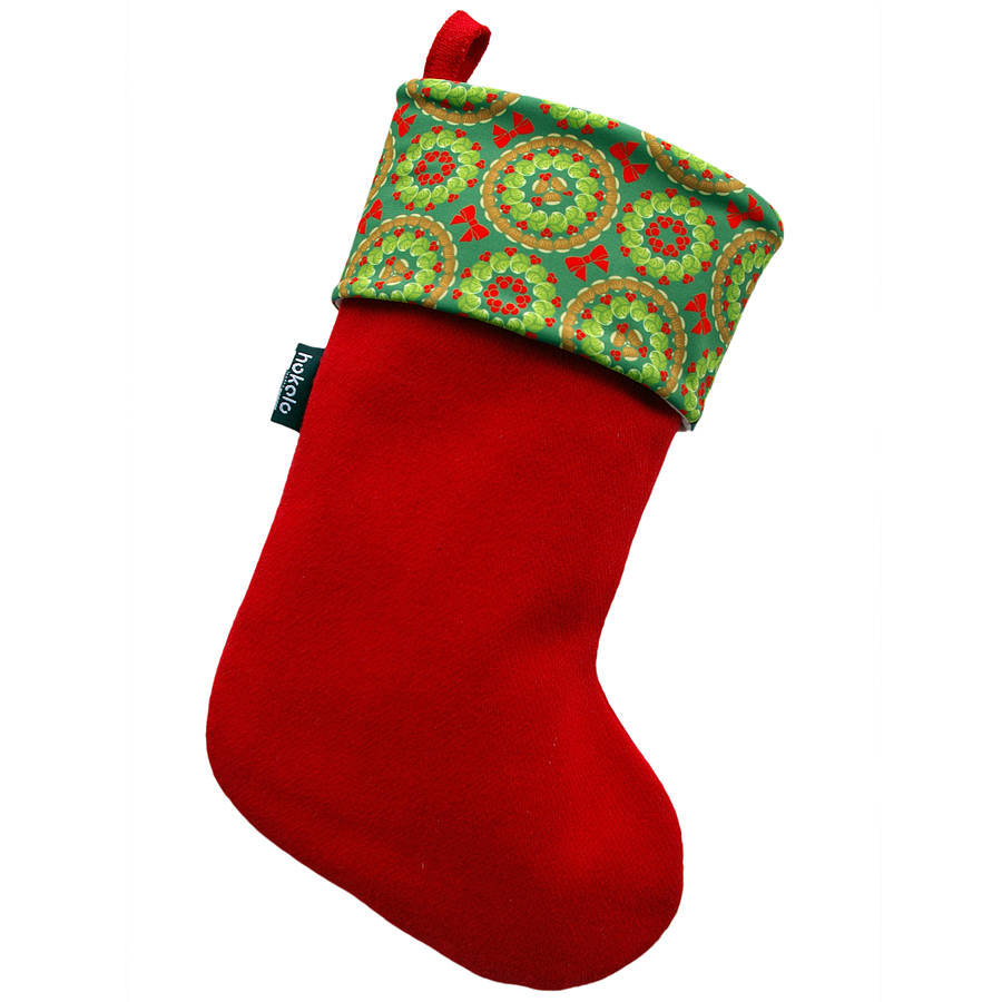 brussels sprouts christmas stocking by hokolo | notonthehighstreet.com