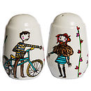 Personalised Themed Salt And Pepper Pots
