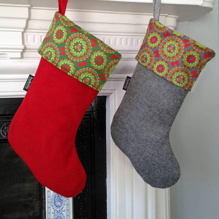 brussels sprouts christmas stocking by hokolo notonthehighstreetcom - Christmas Stocking Design Ideas