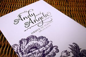 Vintage Anemone Wedding Stationery Range