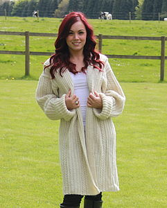Hand Knitted Cable Coat - coats & jackets