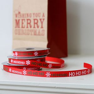 Ho Ho Ho Ribbon - christmas sale
