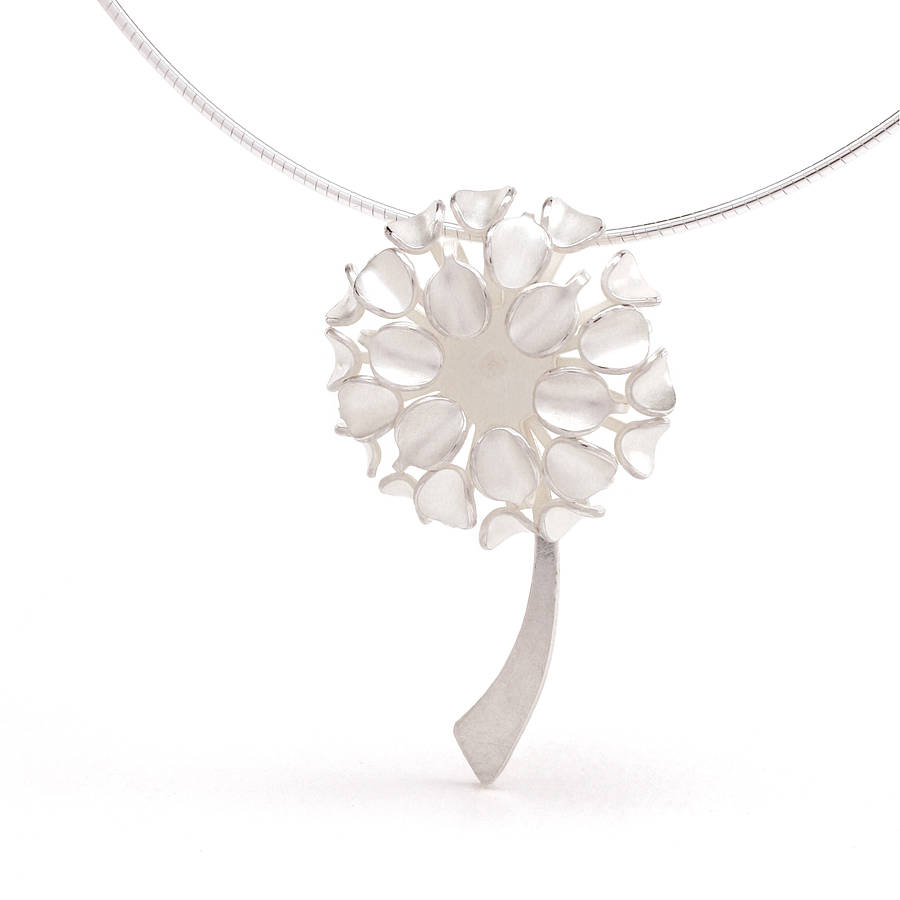 Silver allium flower pendant by gabriella casemore jewellery silver allium flower pendant mozeypictures Image collections
