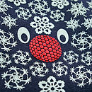 Reindeer print bodysuit detail in navy