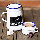 Enamel Chalkboard Flask And Mug