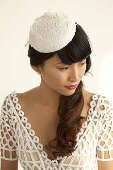 French Lace Pillbox Hat