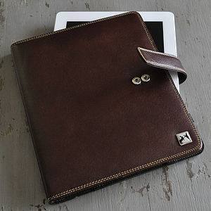 Boxing Hares Brown Leather Case For IPad