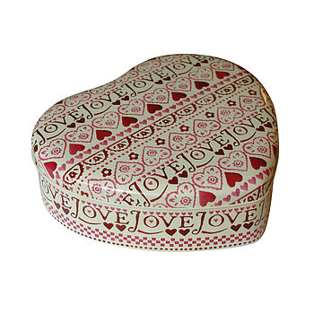 Love Heart Shaped Tin
