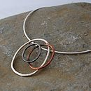 Handmade Organic Copper And Silver Necklace