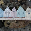 Five Beach Huts Key Holder/Hanging Decoration