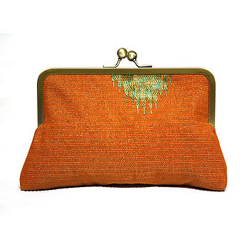 Orange Mini Snap Clutch