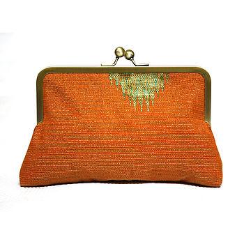 Orange Mini Snap Clutch