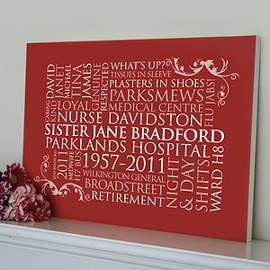 Personalised Word Art For One - paintings & canvases