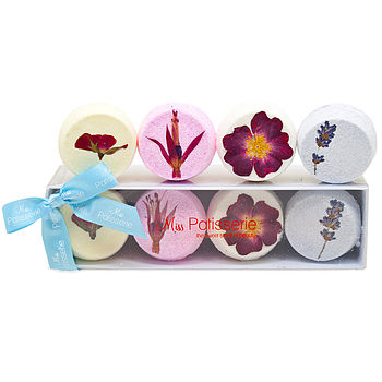 Set Of Eight Macaron Bath Bombs