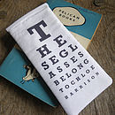 Personalised Eye Chart Glasses Case