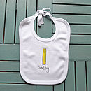 'Small Fry' Print Baby Bib