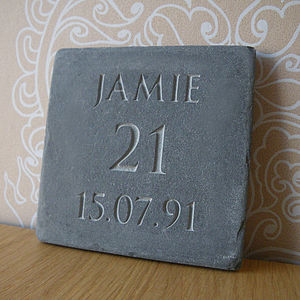 Personalised Birthday Or Anniversary Slate - living & decorating