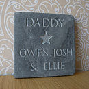 Personalised Dad's Star Slate
