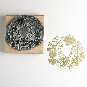 Nativity Garland Stamp