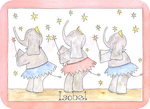 Dancing Ellies Placemat - kitchen