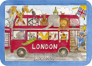 London Bus Placemat - more
