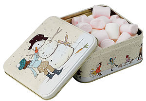 Belle And Boo Build A Snowman Tin