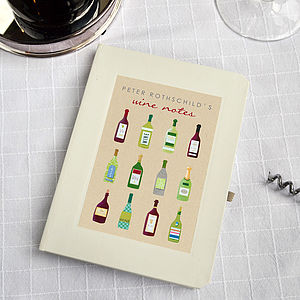 Personalised Wine Notebook - stationery
