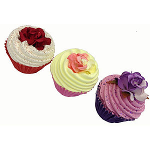 Set Of Three Cupcake Bath Bombs - beauty sets