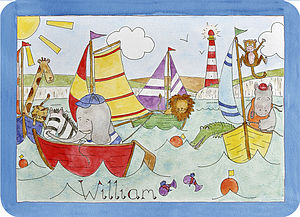 Sailing Placemat - baby care