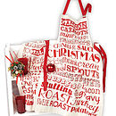 Christmas Dinner Apron And Tea Towel Gift Set