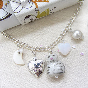 Cat And Dog Handmade Locket Charm Bracelet