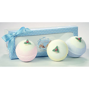 Set Of Three Christmas Pudding Bath Bombs - bath & shower