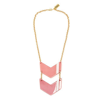 Insignia Chevron Acrylic Necklace