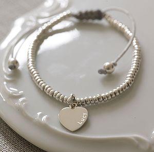 Silver Heart Charm Friendship Bracelet - bracelets & bangles