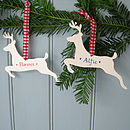 Personalised Metal Reindeer