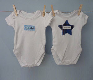 Set Of Two Scottish Baby Vests - babygrows