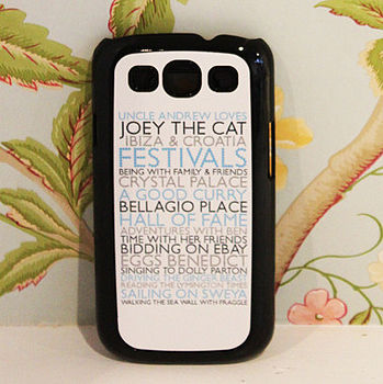 Bespoke Case For Samsung Galaxy S3 And S4