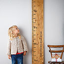 Personalised 'Kids Rule' Wooden Ruler Height Chart